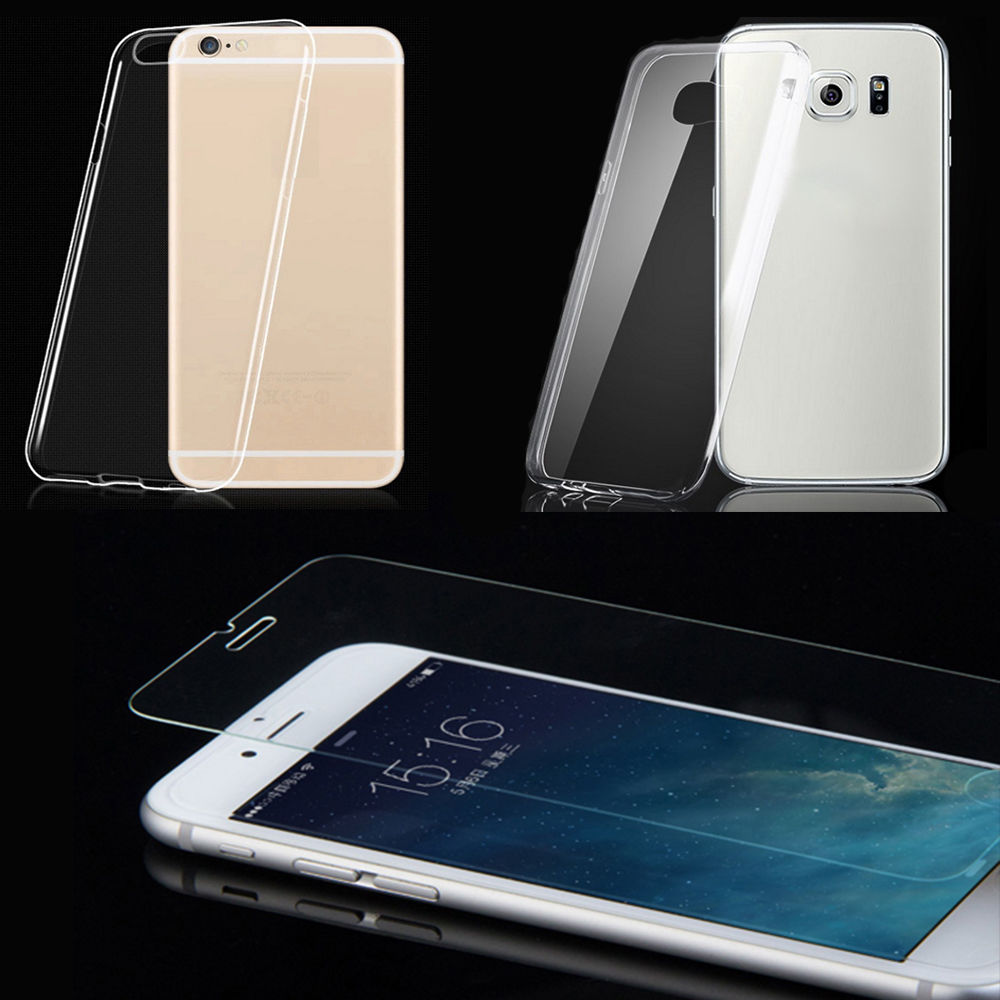 Silikon Hülle Handy Tasche Samsung Galaxy Smartphone 100% True Panzerfolie 9h Glas Cases, Covers & Skins Cell Phone Accessories